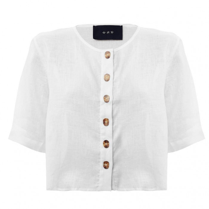 blusa botões branca