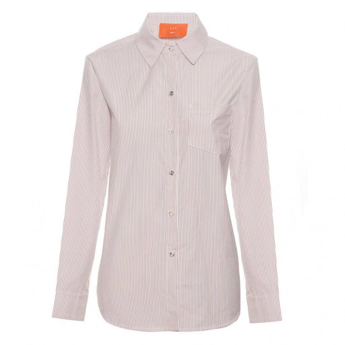 camisa boyfriend listras botão swarovski