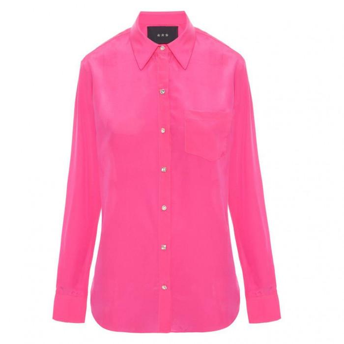 camisa lucas pink - botão swarovski