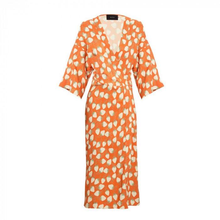 vestido okame morangos